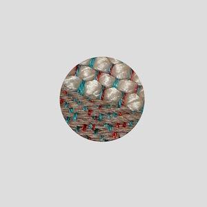 Saori Woven Taupe Bamboo, Cotton, Silk Mini Button