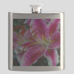 Stargazer Lily Framed Panel Print-2700wx3600 Flask