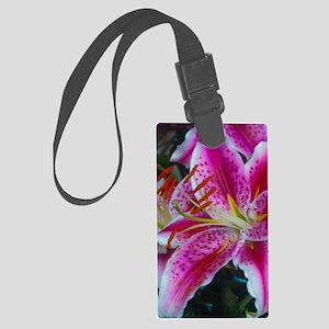 Stargazer Lily Framed Panel Prin Large Luggage Tag