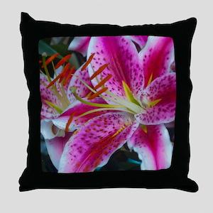 Stargazer Lily Framed Panel Print-270 Throw Pillow