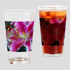 Stargazer Lily Framed Panel Print-2 Drinking Glass