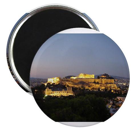 Acropolis view at dusk Magnets