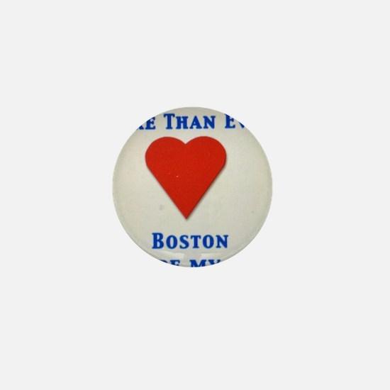 Support our wonderful town, Boston Mini Button