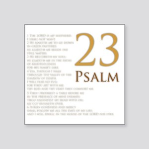 "PSA 23 Square Sticker 3"" x 3"""