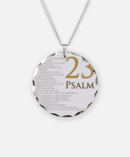 PSA 23 Necklace Circle Charm