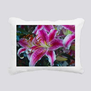 Stargazer Lily Large Fra Rectangular Canvas Pillow