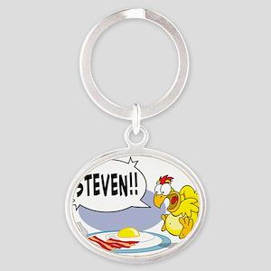 Steven the Egg Oval Keychain