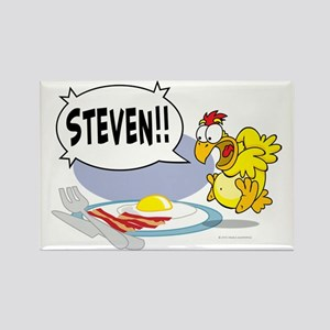 Steven the Egg Rectangle Magnet