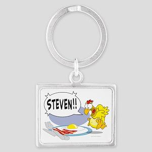 Steven the Egg Landscape Keychain