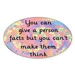Give Facts Oval Sticker
