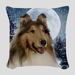 Collie Woven Throw Pillow