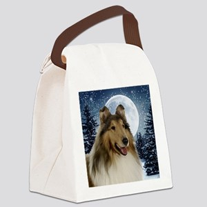 Collie Canvas Lunch Bag