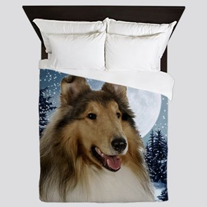 Collie Queen Duvet