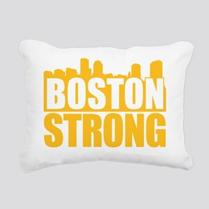Boston Strong Gold Rectangular Canvas Pillow