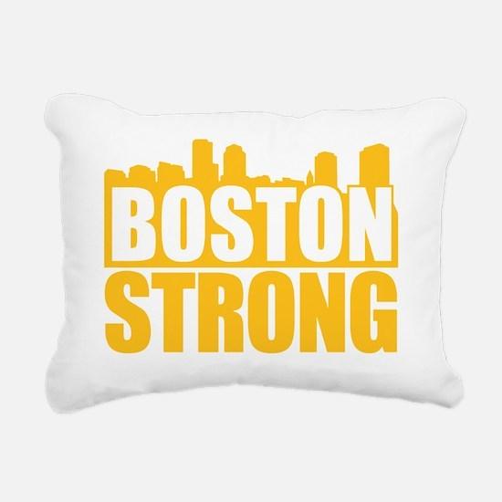 Boston Strong Gold Rectangular Canvas Pillow