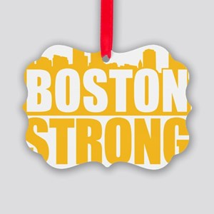 Boston Strong Gold Picture Ornament
