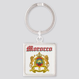 Moroccan Coat Of Arms Square Keychain