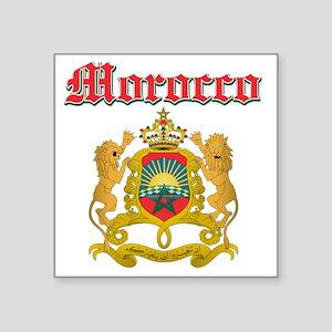 "Moroccan Coat Of Arms Square Sticker 3"" x 3"""