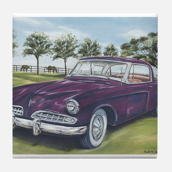 1954 Studebaker Tile Coaster