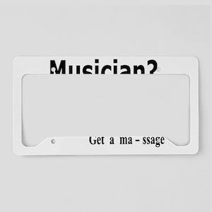 Musician Massage License Plate Holder