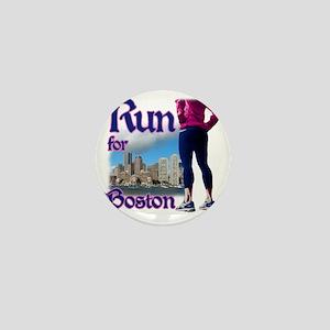Run for Boston, MA Mini Button