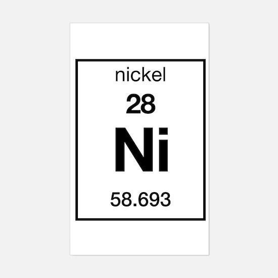 Periodic table nickel stickers cafepress nickel rectangle decal urtaz Choice Image