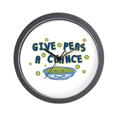 Give Peas A Chance Wall Clock