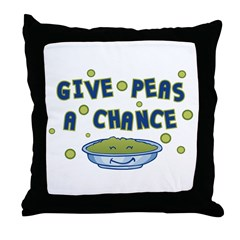 Give Peas A Chance Throw Pillow