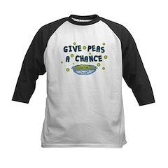 Give Peas A Chance Kids Baseball Jersey