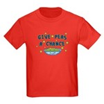Give Peas A Chance Kids Dark T-Shirt