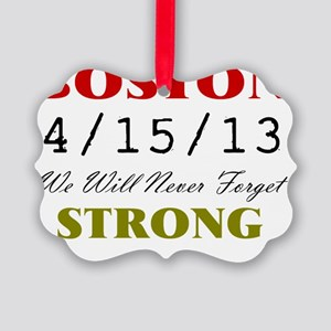 BOSTON STRONG 2 Picture Ornament