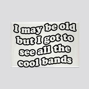 FIN-old-cool-bands-TEXTONLY Rectangle Magnet