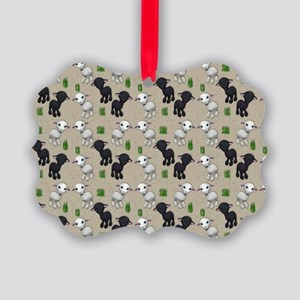 Lovable Lambs Picture Ornament
