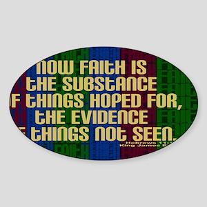 Hebrews 11 1 Faith Sticker (Oval)
