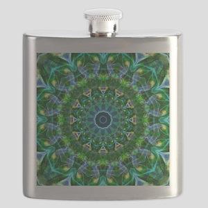 Green Spring Mandala Flask