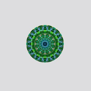 Green Spring Mandala Mini Button