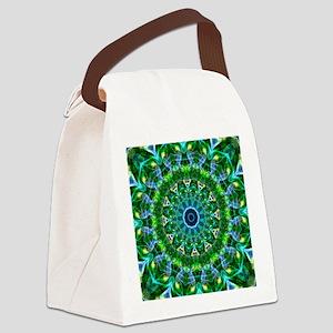 Green Spring Mandala Canvas Lunch Bag