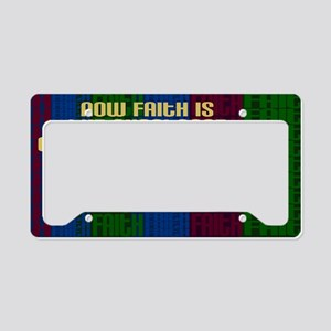 Hebrews 11 1 Faith License Plate Holder