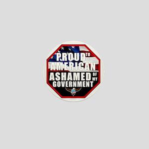 Proud USA Ashamed Government Mini Button