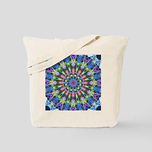 Moving Scrolls Mandala Tote Bag