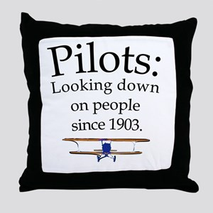 Pilots: Looking down on peopl Throw Pillow