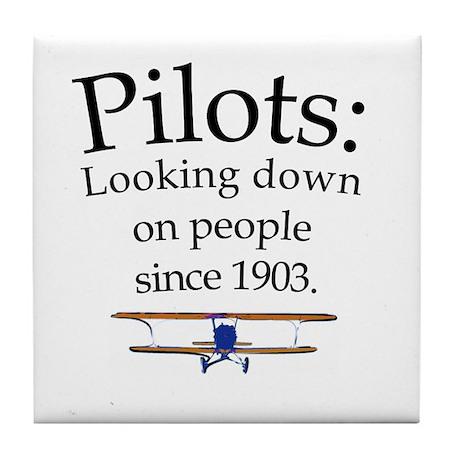 Pilots: Looking down on peopl Tile Coaster
