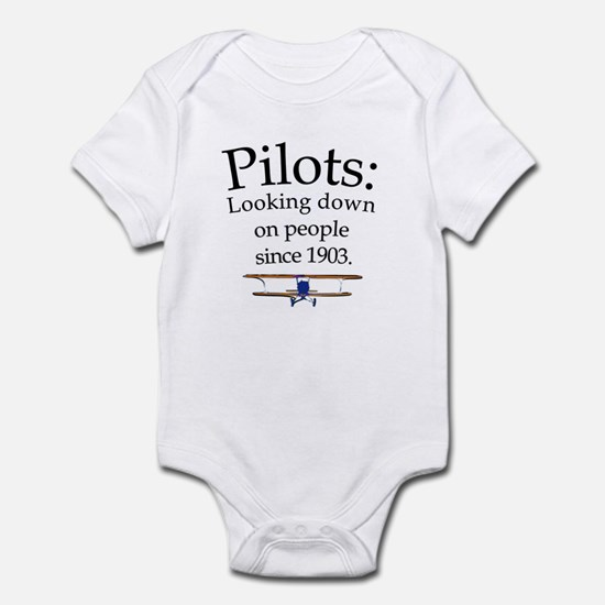 Pilots: Looking down on peopl Infant Bodysuit