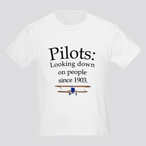 Pilots: Looking down on peopl Kids Light T-Shirt