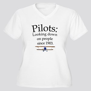 Pilots: Looking down on peopl Women's Plus Size V-