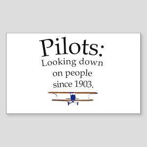 Pilots: Looking down on peopl Sticker (Rectangular