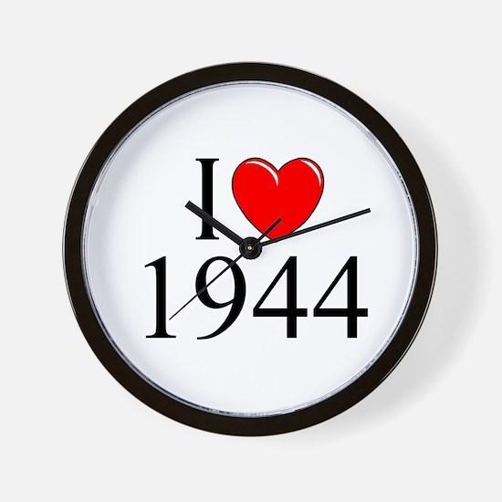 """""""I Love 1944"""" Wall Clock"""
