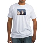 Space Shuttle Atlantis / EARTH Fitted T-Shirt
