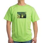 Space Shuttle Atlantis /EARTH Green T-Shirt