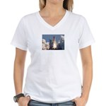 Space Shuttle Atlantis / EARTH Women's V-Neck T